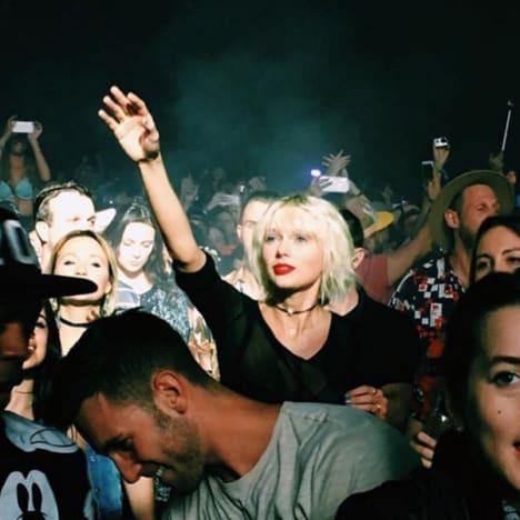 Taylor Swift Watches Calvin Harris