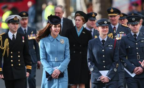 Kate Middleton: 75th Anniversary Of The Formation Of The Air Training Corps
