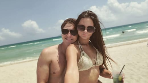 Julia Trubkina and Brandon Gibbs at the Beach