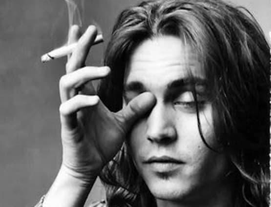 Johnny Depp Smoking