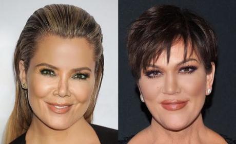 Khloe Kardashian face swaps with Kris Jenner