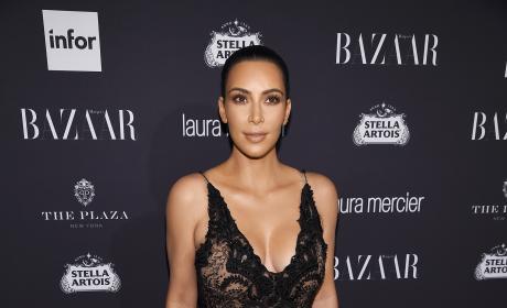 Kim Kardashian in Sheer Outfit