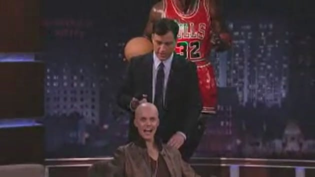 Justin bieber shaved head jimmy kimmel