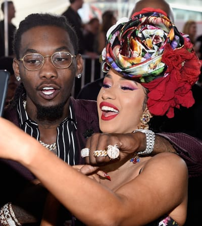 Cardi B and Offset Selfie
