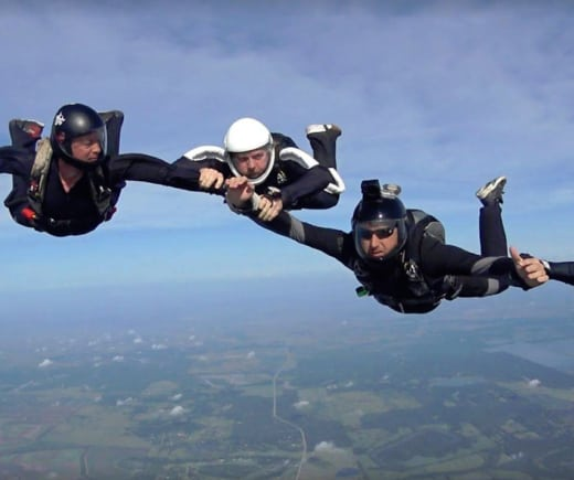 skydiving narrative Skydiving fall rate investigating skydiving freefall speeds  this accuracy information is expressed in a narrative manner and may need to be interpreted.
