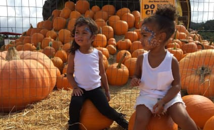 North West Plays in Pumpkin Patch, Remains Precious