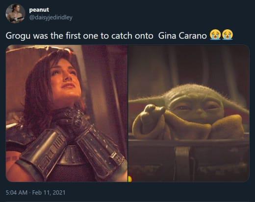 Gina Carano terminó los tweets de la fiesta 01