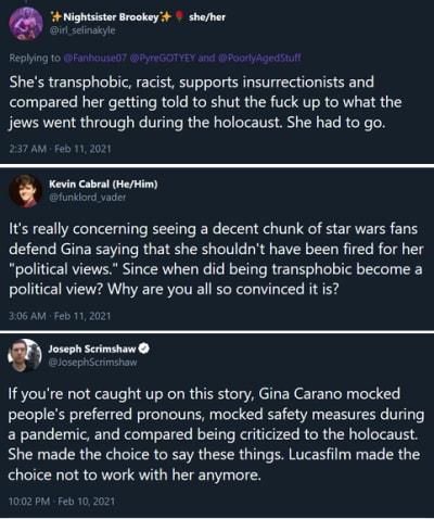 Gina Carano ha terminado los tweets de la fiesta 04