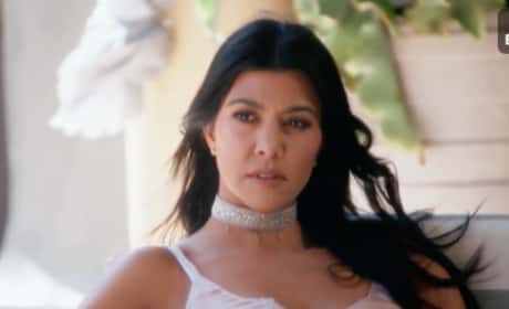 Kourtney Kardashian Chills Out