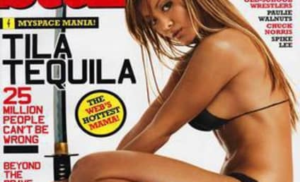 Photo Finish: Half-Nude Tila Tequila vs. Half-Nude Michelle Marsh