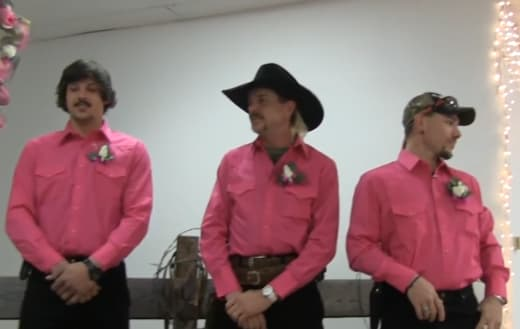 Travis Maldonado, Joe Exotic y John Finlay Wedding Pic