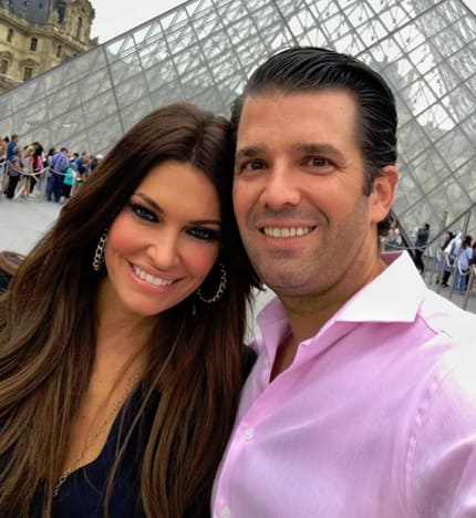 Donald Trump Jr. and Kimberly Guilfoyle in France