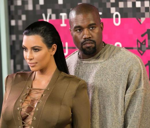 Kanye and Kim at the VMAs