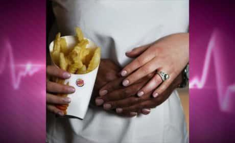 Kim Kardashian, Kanye West, Burger King