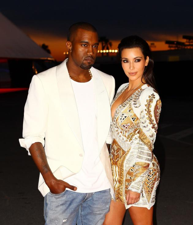 Kim Kardashian and Kanye West in Cannes