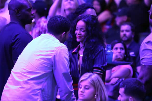 Rihanna and Drake Clippers Game Image