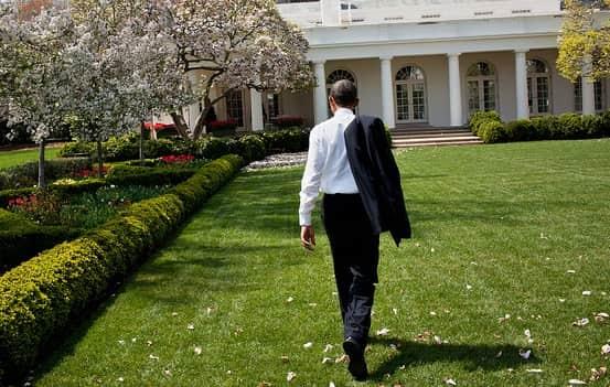 Obama Outside White House