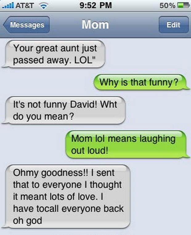 Hilarious Texting Fails from Parents (24 pics) - Izismile.com  |Parenting Text Fails