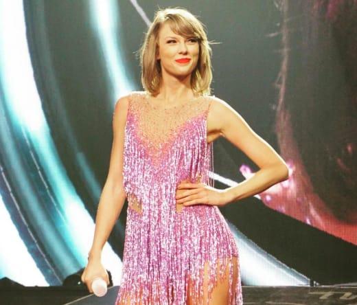 Taylor Swift Looks Proud