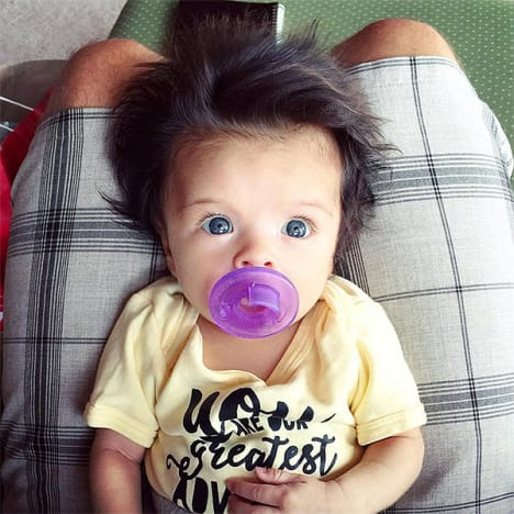 Baby with A Lot of Hair