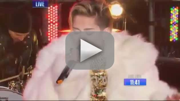 Miley Cyrus New Year's Eve Performance