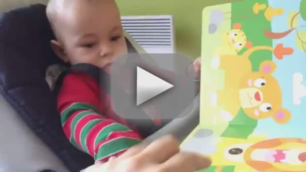 Child Reacts to Fake Lion Roar