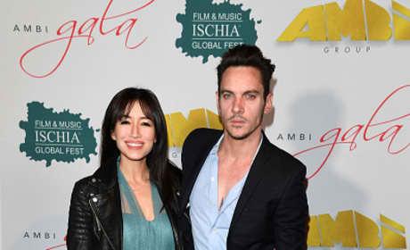Jonathan Rhys Meyers & Mara Lane Attend 'AMBI GALA'