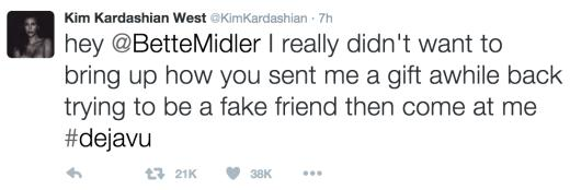 Kim Kardashian Tweets To Bette Midler