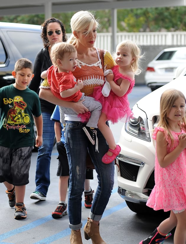 Tori Spelling With Kids