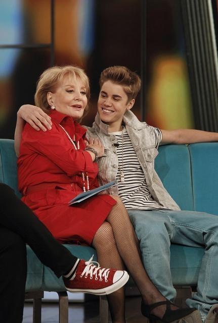 Justin Bieber and Barbara Walters