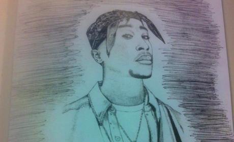 Eminem's Sketch of Tupac