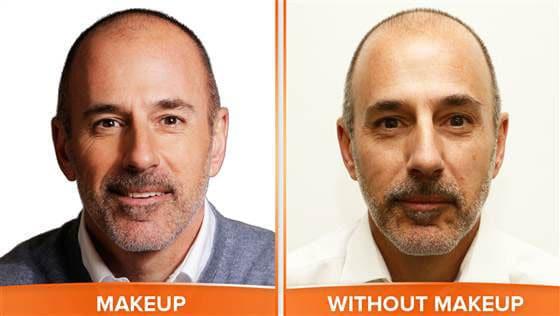 Matt Lauer: No Makeup!