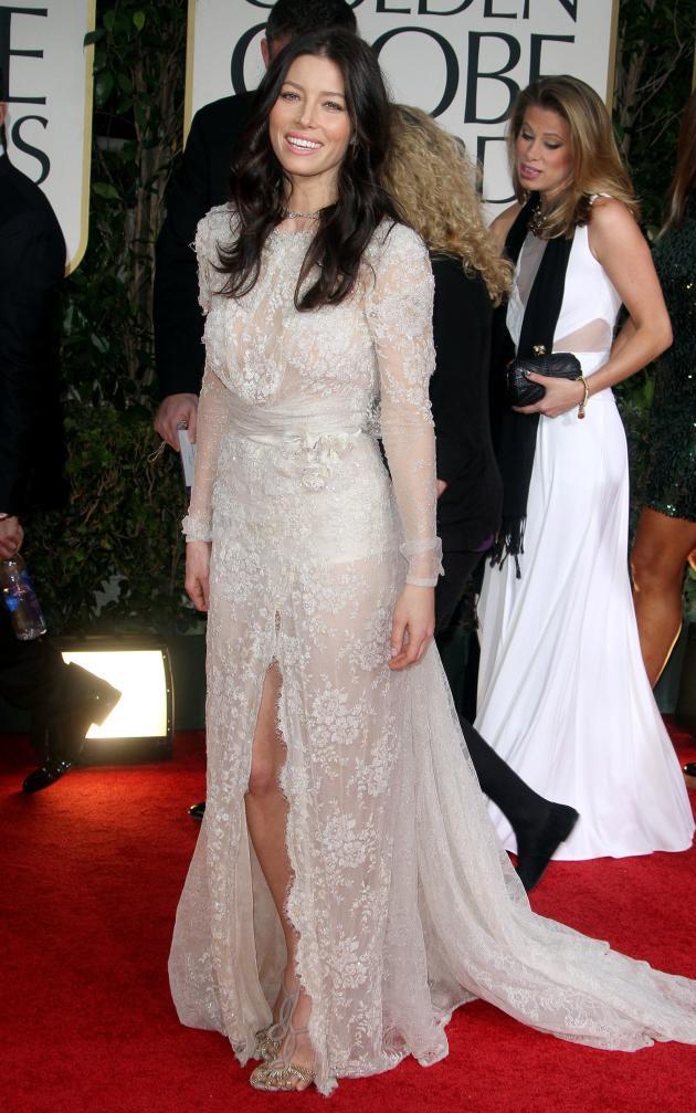 Jessica Biel at the Golden Globe Awards