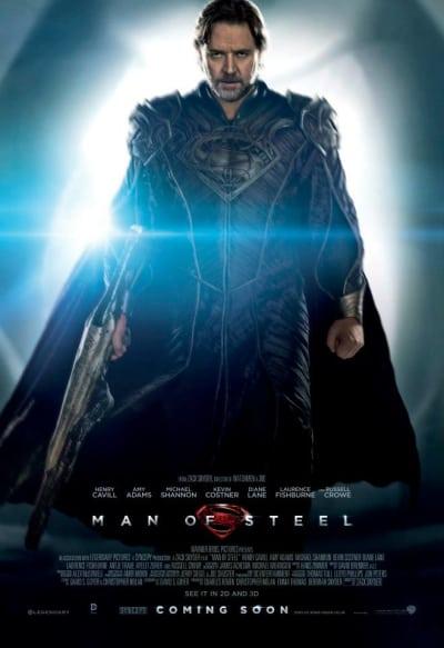 Man of Steel Russell Crowe Poster