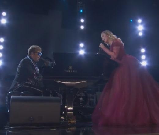 Miley Cyrus and Elton John 2