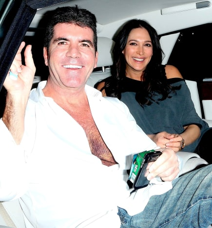 Lauren Silverman and Simon Cowell Pic
