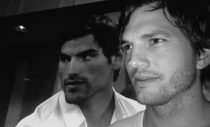 Ashton Kutcher Poses Alongside Bachelor in Paradise Doppleganger