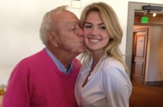 Kate Upton and Arnold Palmer
