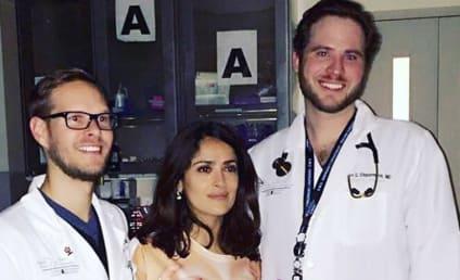 Salma Hayek Wins Internet with Hilarious Hospital Photo