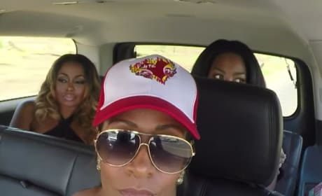 Sheree Whitfield In a Car