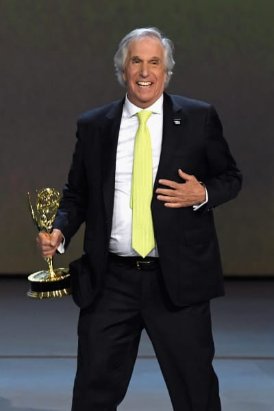 Henry Winkler Accepts Emmy Award