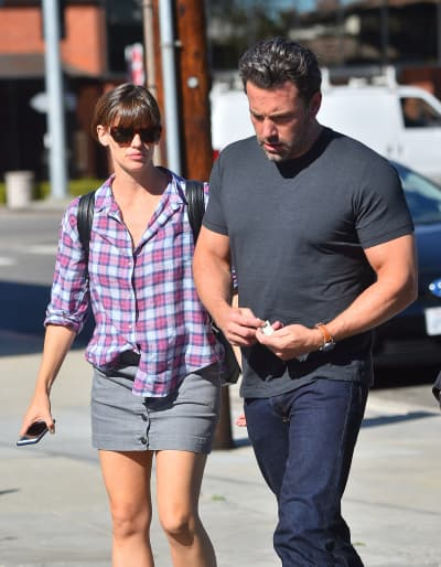 Ben Affleck and Jennifer Garner leave Tavern in Brentwood