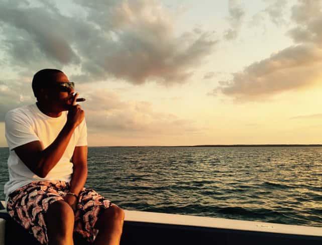Jay Z on a Boat