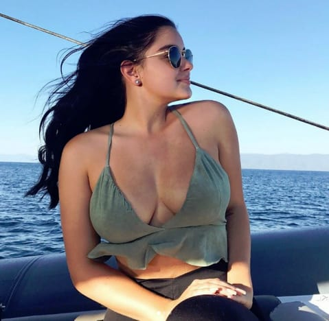 Ariel Winter on Lake Tahoe