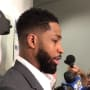 Tristan Thompson Talks to Reporters