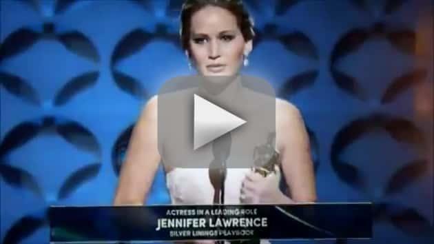 She falls at the Oscars