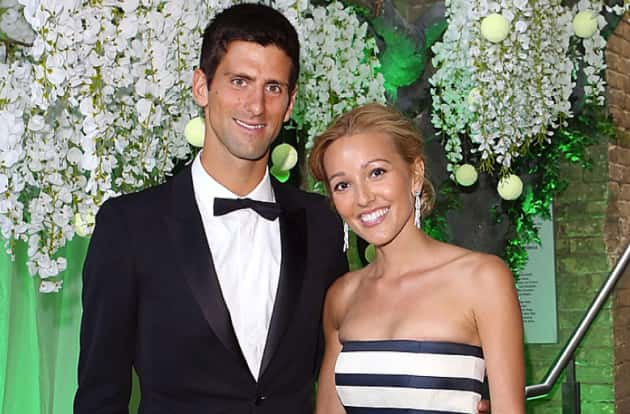 Jelena Ristic and Novak Djokovic