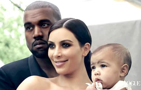Kanye, Kim and North Vogue Photo