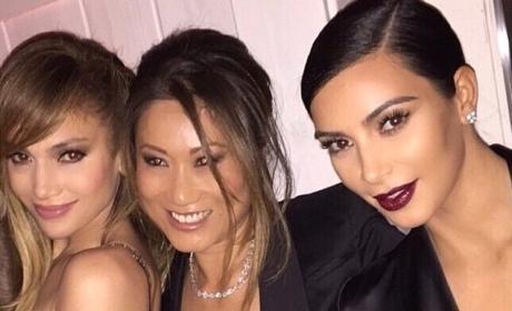 Jennifer Lopez and Kim Kardashian