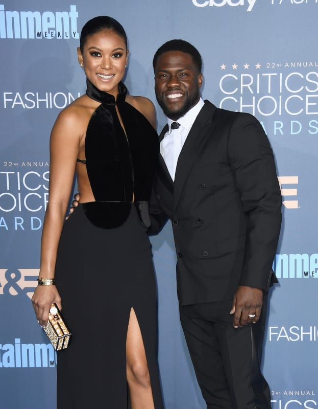 Kevin hart and eniko parrish in black